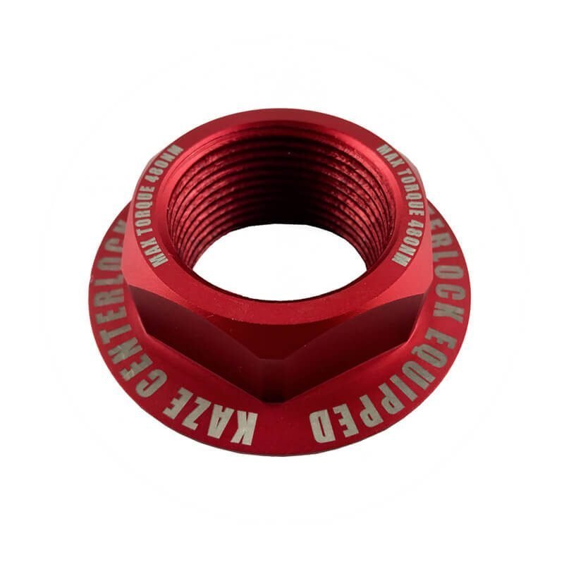 Center Lock Nut - Racing Red 2